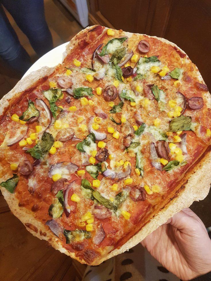 Thin and crispy pizza base