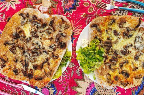 truffle and mushroom pizza